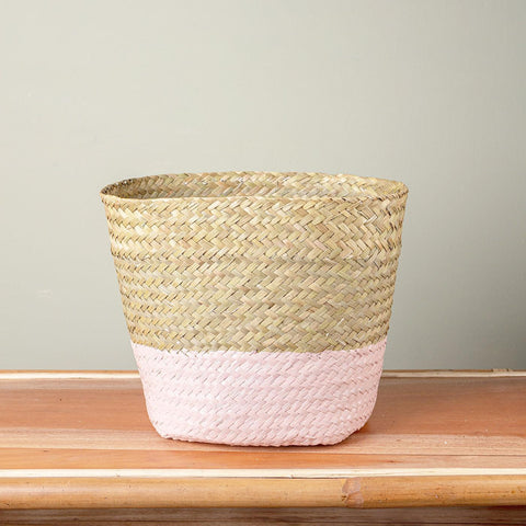 Seagrass Basket - Sand Colour Bottom