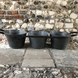 Vintage Triple Galvanised Planter