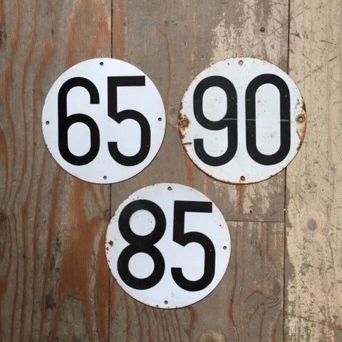 Vintage Numbered Signs