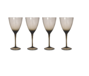 Set of 4 Wine Glasses  - Smoke