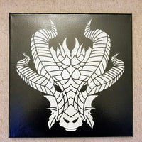 Aythaen The Dragon Laser Etched Canvas 12x16