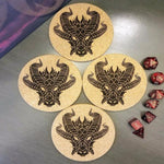 Aythaen The Dragon Cork Coasters