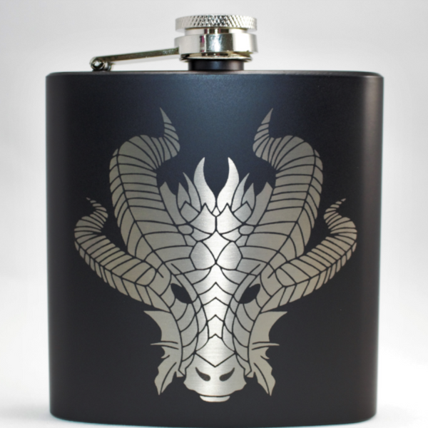 Aythaen The Dragon Black Matte Flask