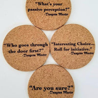 Character Death Imminent Cork Coasters