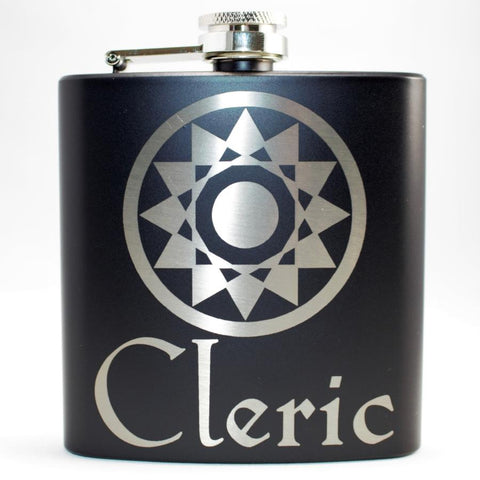 Cleric Black Matte Flask