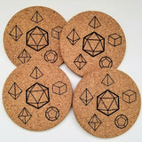 Roll, You Fools! Cork Coasters