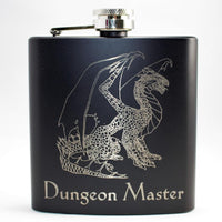 Dungeon Master Ancient Dragon Black Matte Flask