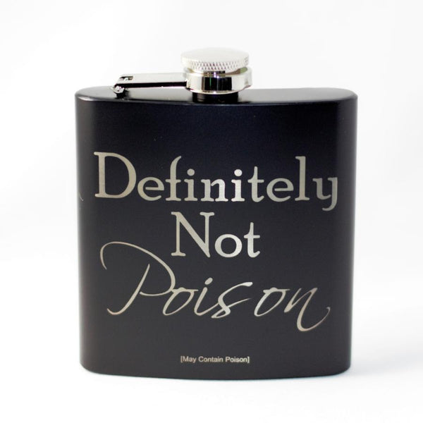 Definitely Not Poison Black Matte Flask