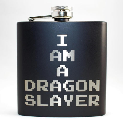 Dragon Slayer Black Matte Flask