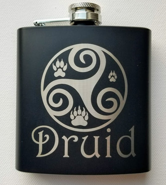 Druid Black Matte Flask