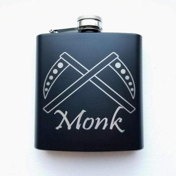 Monk Black Matte Flask