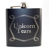 Unicorn Tears Black Matte Flask