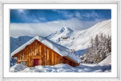 The Cabin At Paradise Framed (alpine white)
