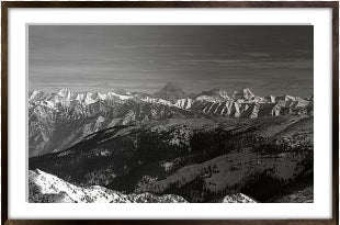 Mount Assiniboine Framed (black)