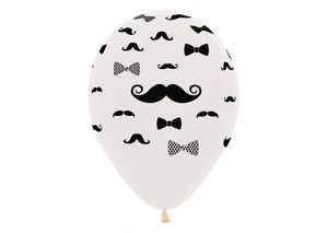 Moustache and Bow Tie - Crystal Clear