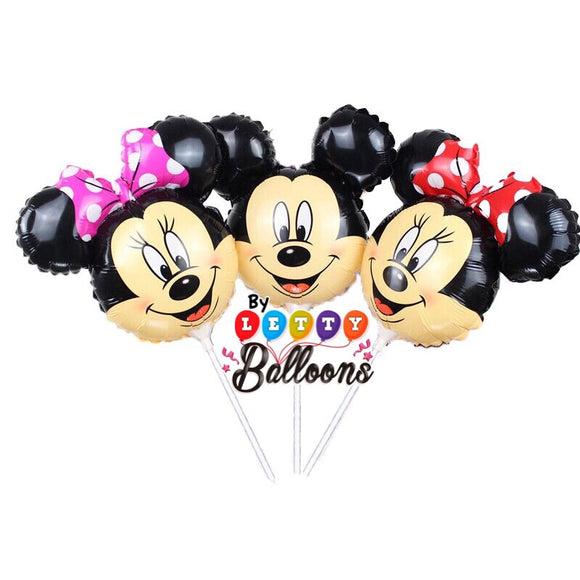 Caras de Minnie y Mickey Mouses
