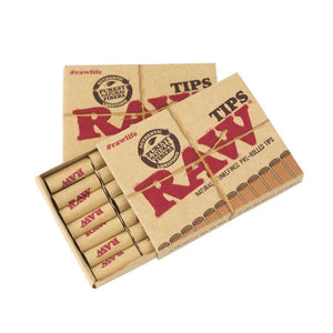 Raw Pre Rolled Tips ~ 5 Packs ~ 21 Tips Per Pack