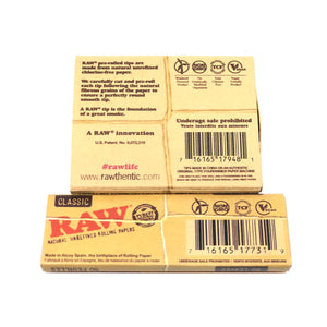 Raw Rolling Paper and Pre Rolled Tip Kit