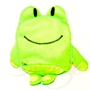 Himalayan Salt Heating Cooling Aromatherapy Toy Frog green felt