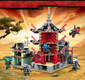 Ninja Temple Building Block Define Brinquedos Educativos