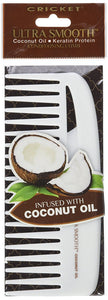 Ultra Smooth Wide Tooth Comb For Detangling Coconut infused