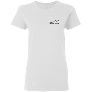 G500L Ladies' 5.3 oz. Cotton T-Shirt w/Motto on Back