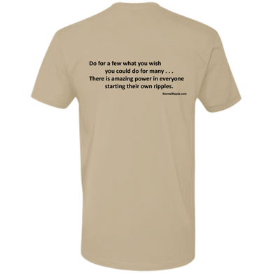 NL3600 Premium Short Sleeve T-Shirt w/Motto on Back