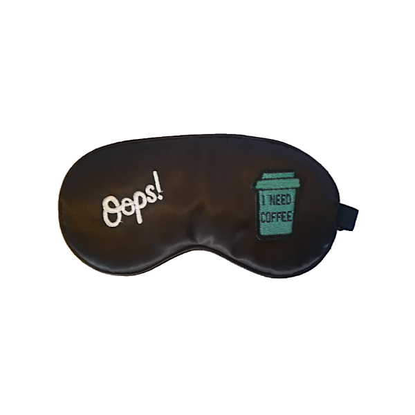 I need coffee! Silk Sleep Mask - KSuitya