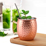 550ml 1/4 Pcs 18 Ounces Hammered Copper Plated Mug