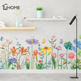 Tropical Leaves Colorful Flower Art Wall Sticker