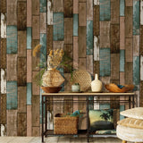 Vintage Wood Self Adhesive Paper Removable Peel Stick Wallpaper