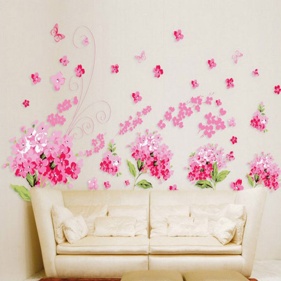 Romantic Cherry blossoms Flowers Wall Stickers