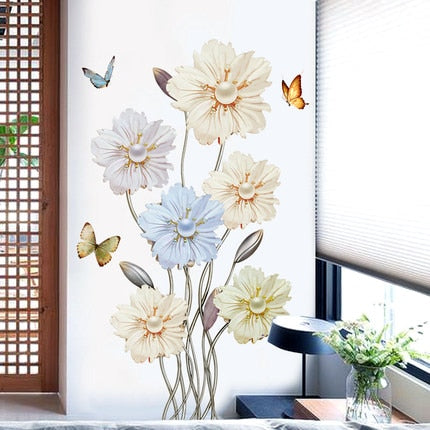 Pearl Flower Wall Sticker 3D Wallpaper