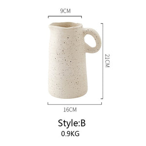 Nordic Style Art Ceramic Flower Vase for Dried Flower