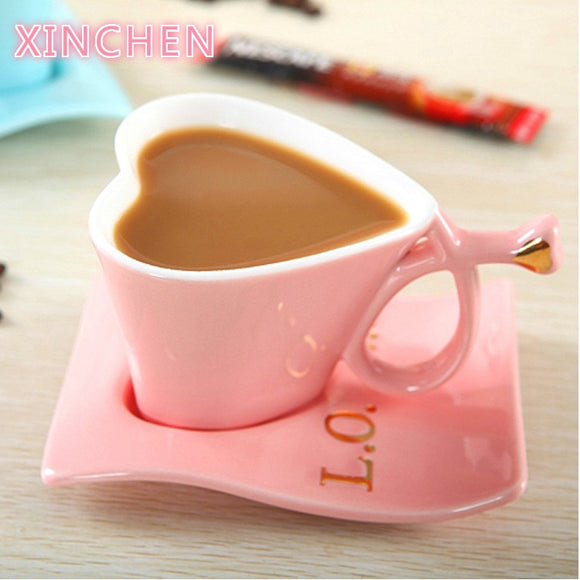 XinChen New Direct Sales Creative Heart-Shaped Ceramic Cup