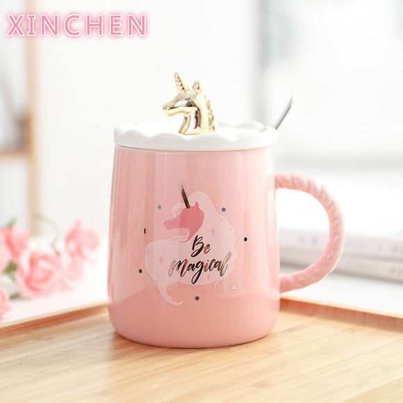 XINCHEN  Magical Unicorn Coffee Mug