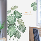 Tropical Pink Peony Flower Beach Palm Leaves Wall sticker