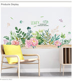 Flower Grass Leaves Wall Stickers