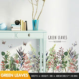 Flowers creative plants skirting wall stickers