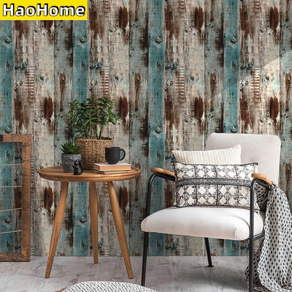 HaoHome Wood Peel and Stick Wallpaper