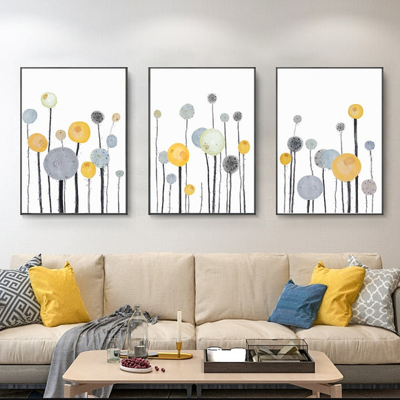 Sunflower Flowers Art Canvas Painting