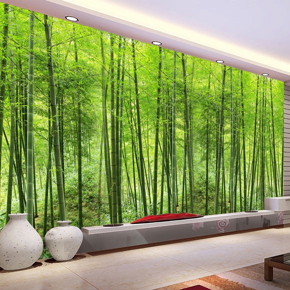 Bamboo Forest Art Wall Painting Wallpaper