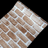 Vinyl Self Adhesive Wallpaper Brick PVC Wall Stickers