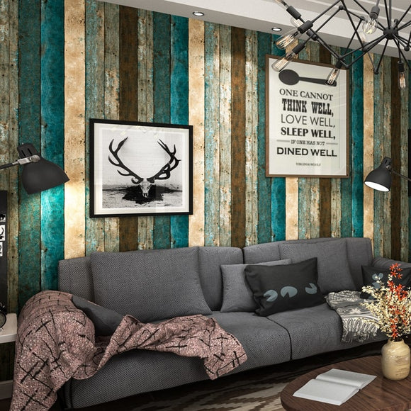 Retro Nostalgia Wood Panel Wood Grain Wallpaper