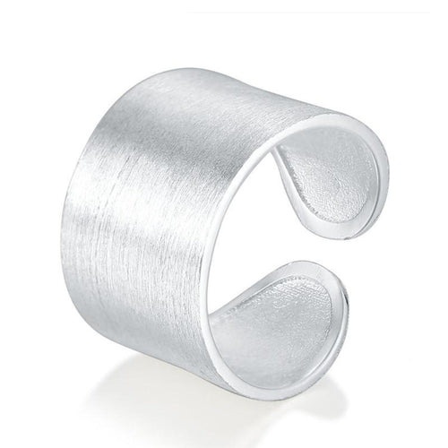 Pure 925 Silver Brushed Ring