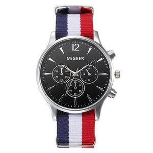 MiGEER Canvas Casual Analog Wrist Watch