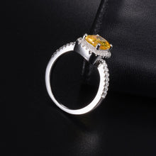 925 Sterling Silver Princess-cut 3 ct topaz  Ring