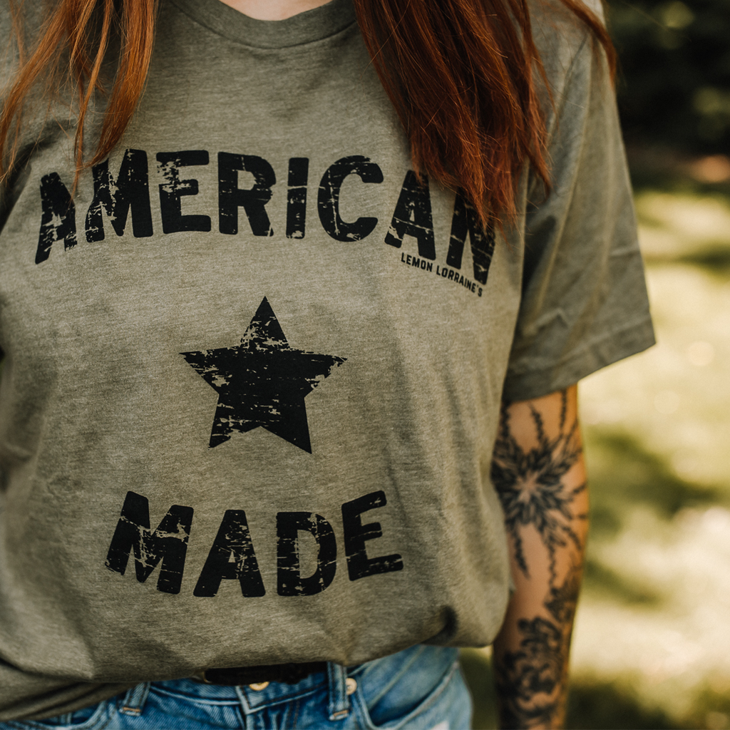 Olive American Made Graphic