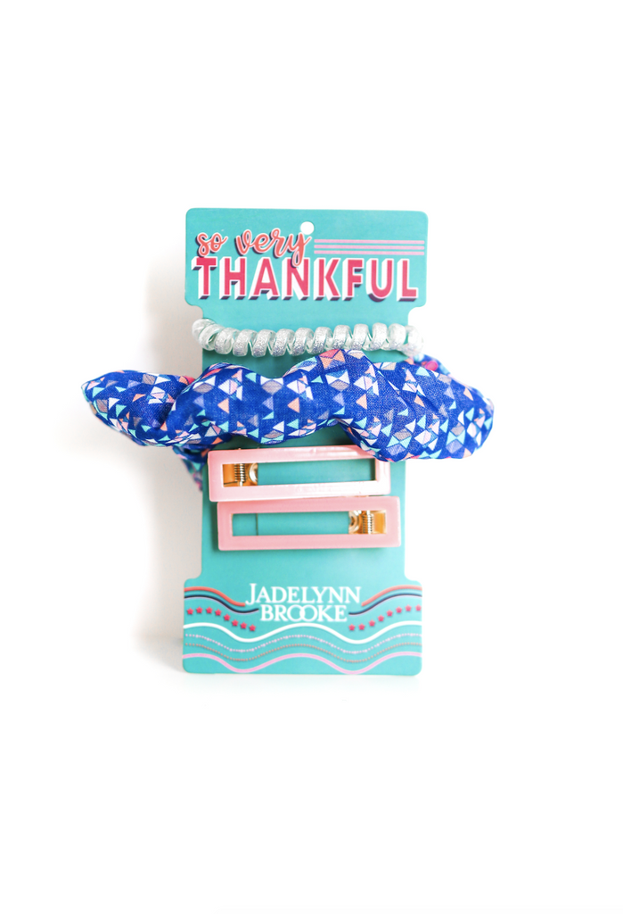 So Very Thankful Hair Set (Blue)