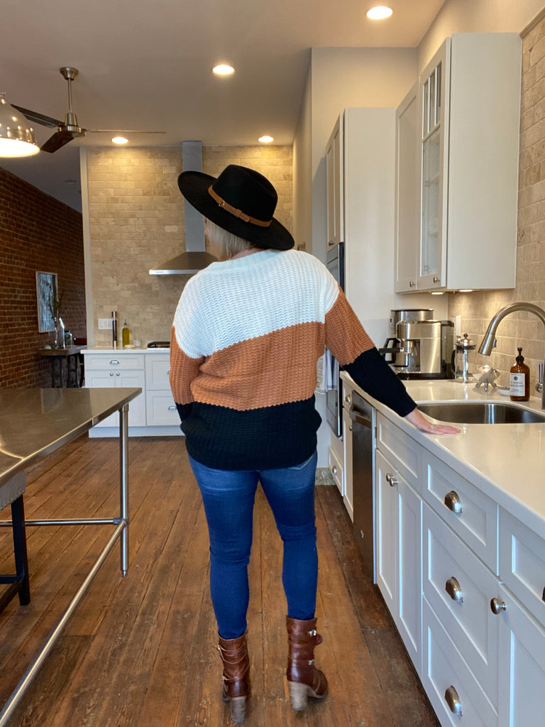 Latte Slouch Off The Shoulder Sweater